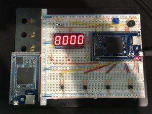 Whak-A-Mole game on a breadboard with the OSD3358