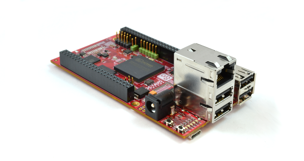 OSD3358-SM-RED Board Connectors View